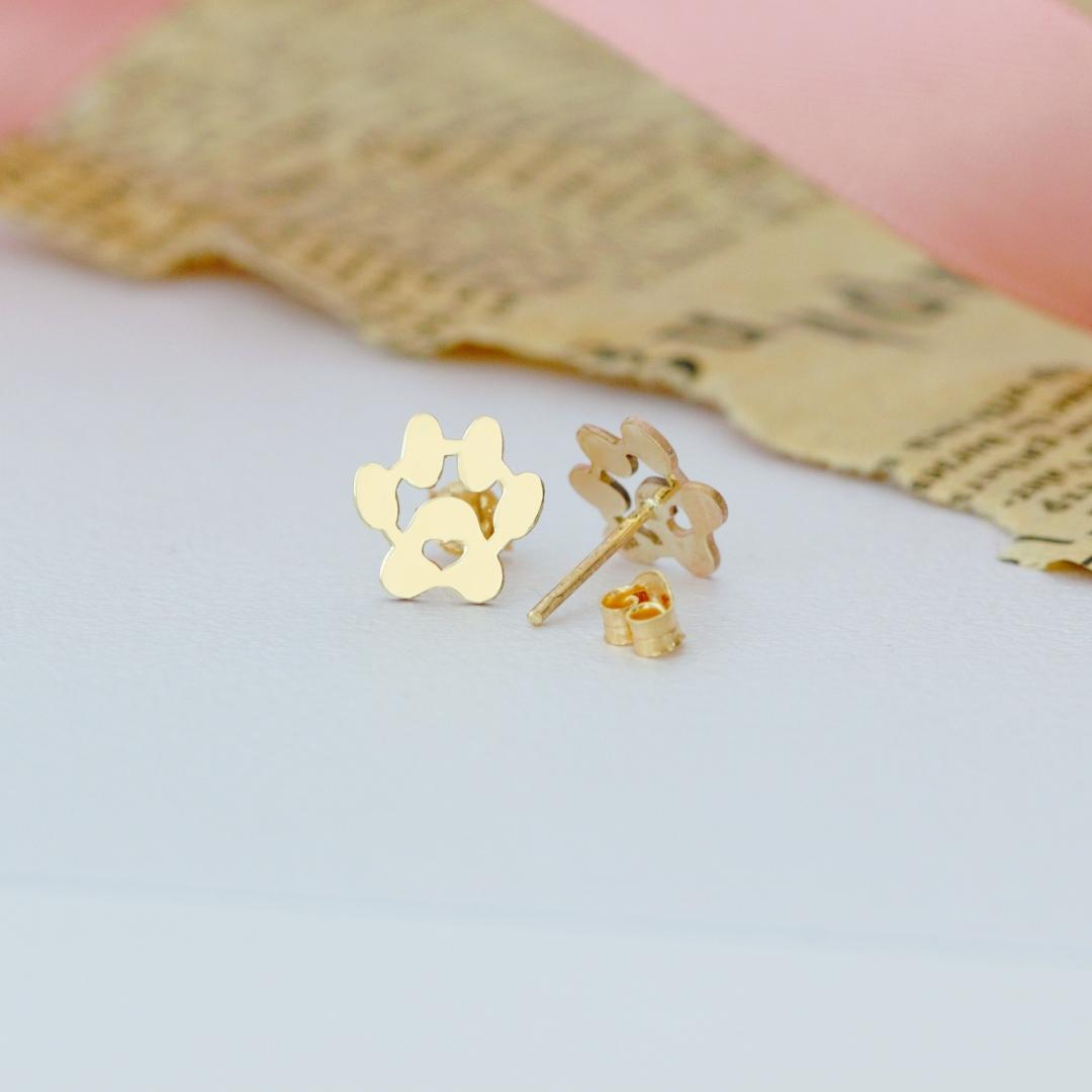 Cercei cu labute – model deosebit – din aur 14K – pentru dama