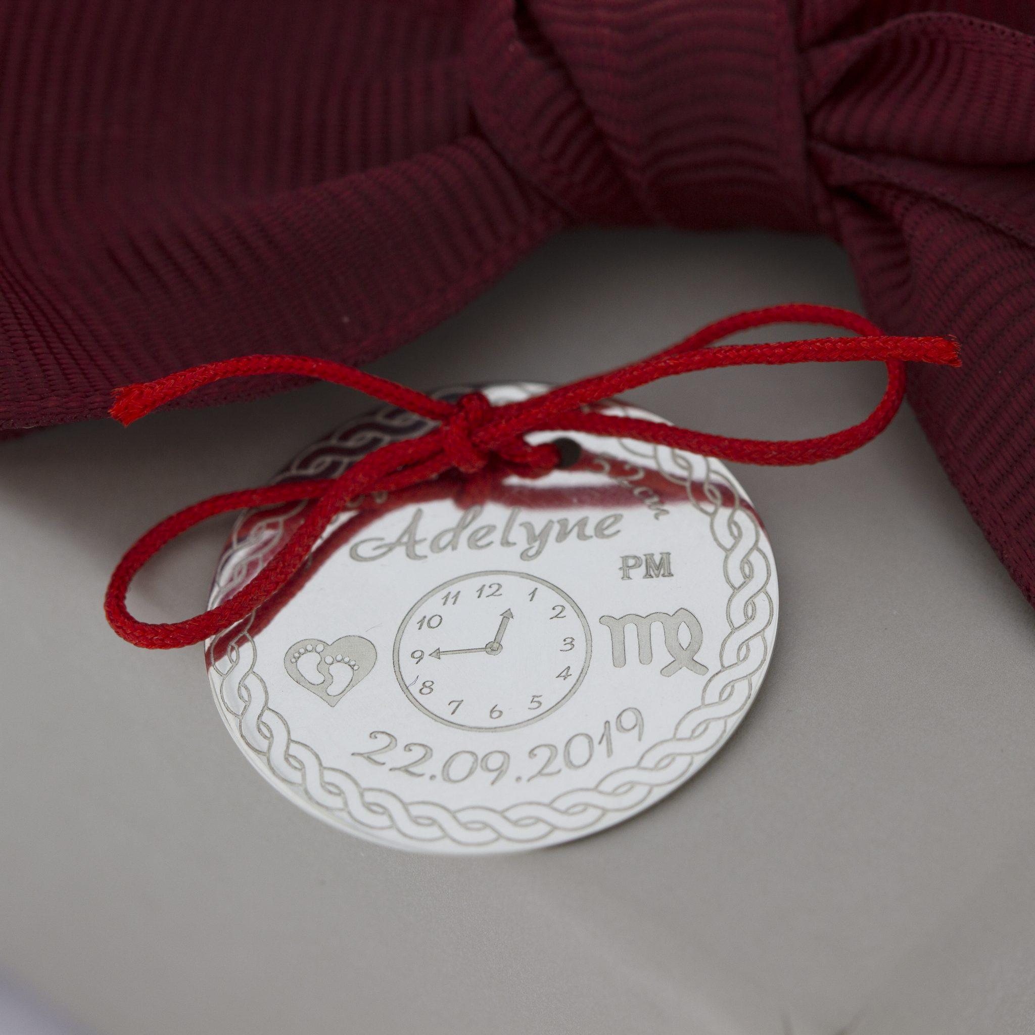 Banut de botez sau mot din Argint 925, dimensiune 24 mm