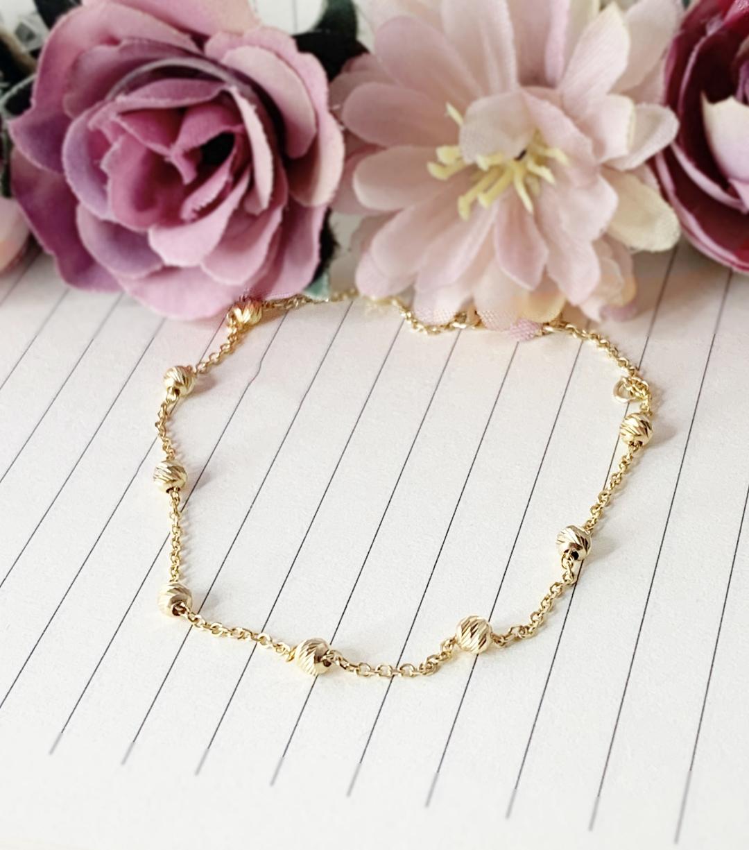 Bratara lant dama bilute fixe – aur galben, alb sau roz 14K
